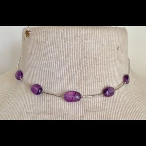 AMETHYST sterling silver necklace 925